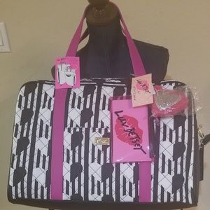 Betsey Johnson stripped heart weekender